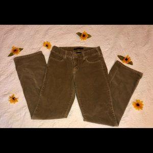 brown levi's corduroy bootcut jeans